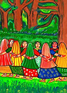 Tribal Women Dancing