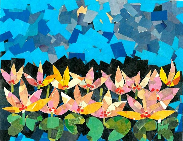 A Collage of Lotus flowers - spurthi