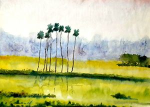 village scape,water color