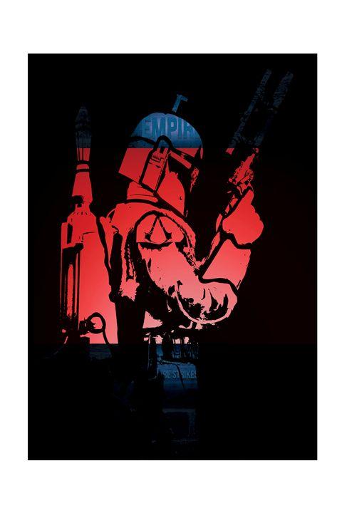 Boba Fett Art poster - Mickey MacKenna Artist