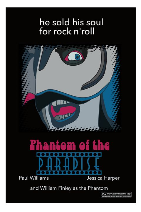 Phantom of the Paradise poster Art - Mickey MacKenna Artist