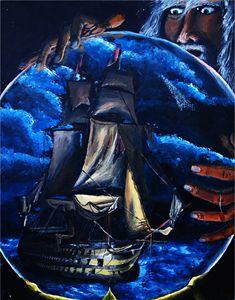 Wizard Watching Ship