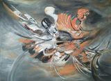 Original abstract acrylic painting