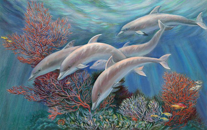Happy Family - Dolphins Are Awesome - Svitozar Nenyuk