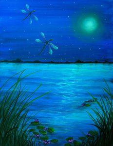 """""""Dragonflies flight by Moonlight"""""""