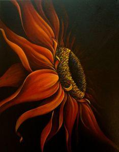 """""""Red Sun Flower"""" Randa Hitchner"""