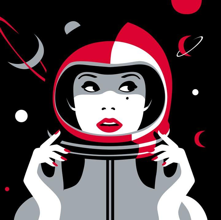 Space Woman - DigitArt