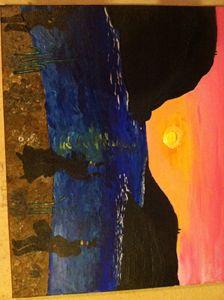 A Sunset Dance on the Sand