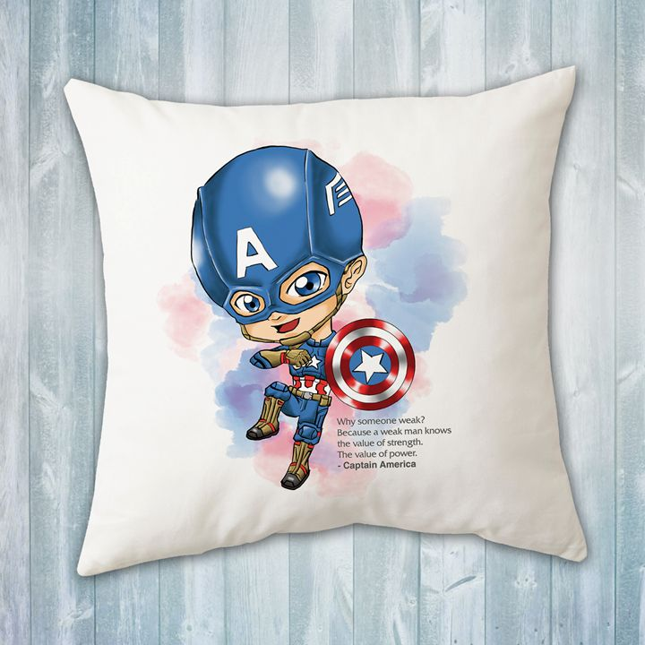 Chibi Captain America Pillow - Evershades