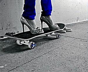 Heels on board