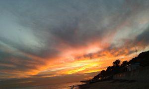 Burning, moody, sunset