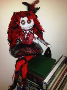Marcia handmade gothic rag art doll
