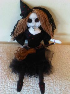 Grace handmade gothic Witch art doll