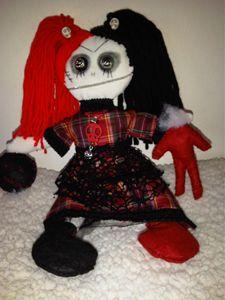 Helen Horror gothic art doll handmad