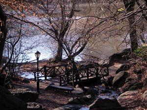 Oak Bridge at Dusk