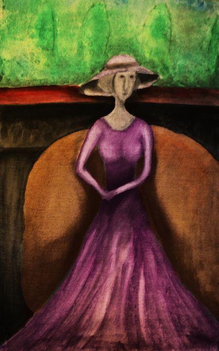 Woman in purple - Alejandro D