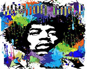 Jimi Hendrix Vector Art