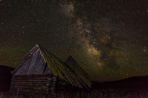 Montana Barn in the milky way