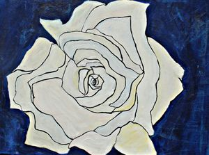The Blue Distressed Rose