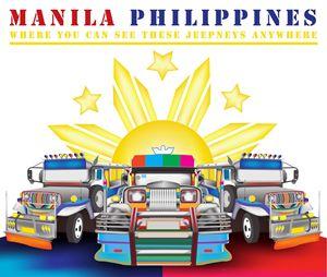 Manila jeepney illustration