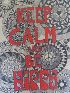 keep calm and be hippy