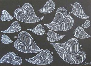 Black & White leaves.