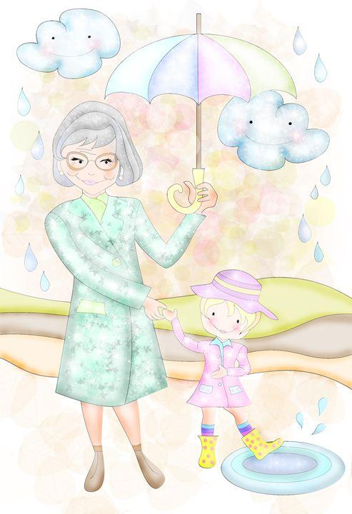 Singing in the Rain With Grandma - Aviva Gittle Gifts