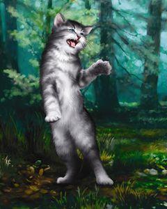 Kitten is Lost in the Woods