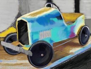 Vintage Toy Car - Lisa Welcher Art