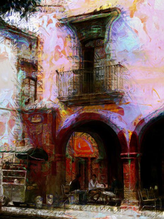 mexican corner cafe - Lisa Welcher Art