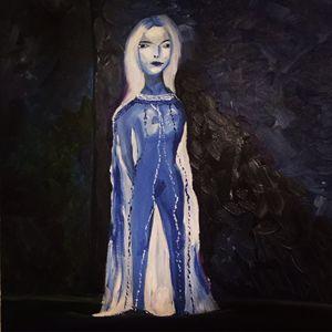 Picasso inspiration. Blue period