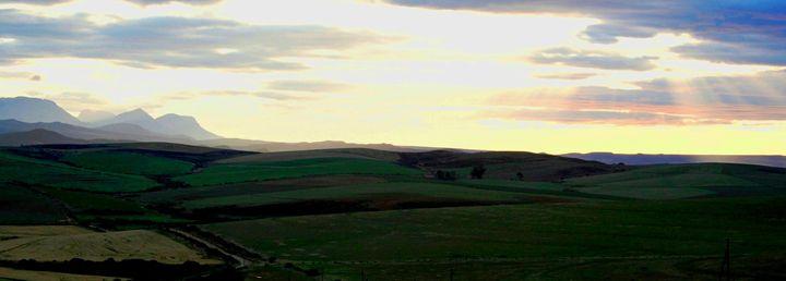Serene landscape - Hibiscus