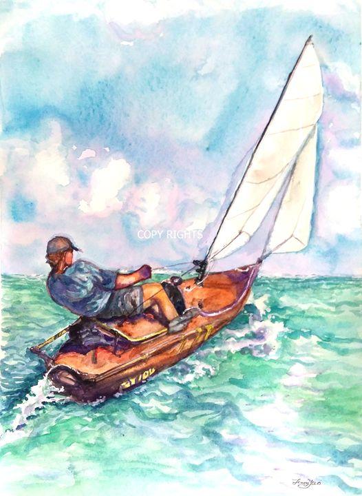 Sailing Along - ArtbyJennyYao