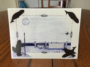 Unique inupiaq greeting card