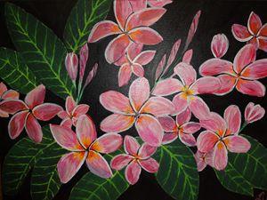 Plumeria flower art