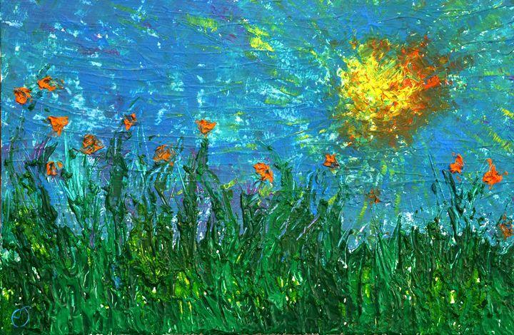 Grassland with orange flowers - eriktanghe