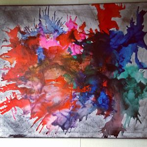 "Original ""Paint Splat"" Canvas Art"