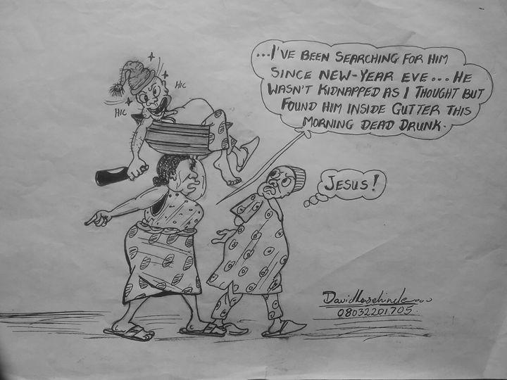 The Drunk  cartoon - Lashcartoons