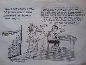 Editorial /Ribbon cracker cartoon
