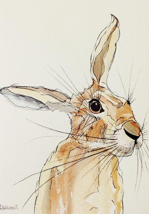 Hop Hare Listening - Lisa Addinsall Artist