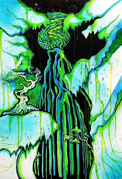 Space Waterfall - Performance Paintings
