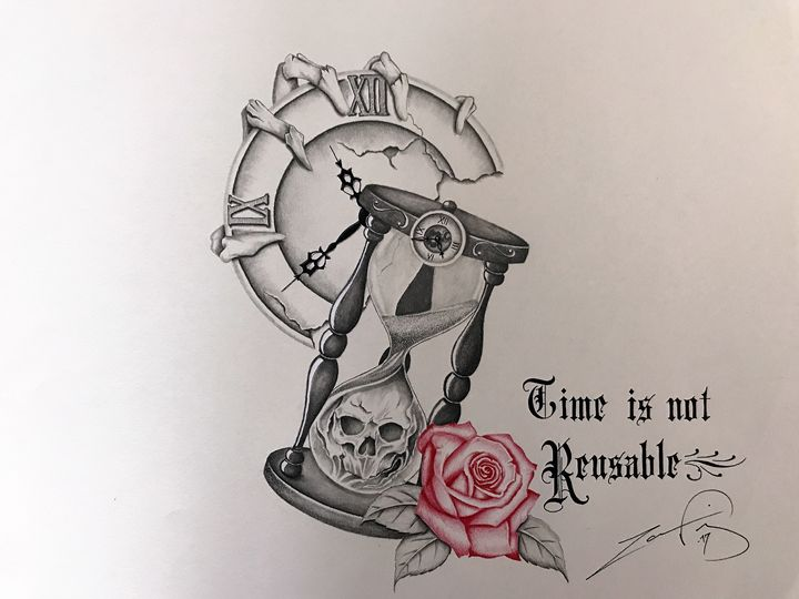 Time is not reusable - Ingenious Artwork