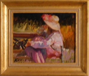 Girl Sitting in a Garden