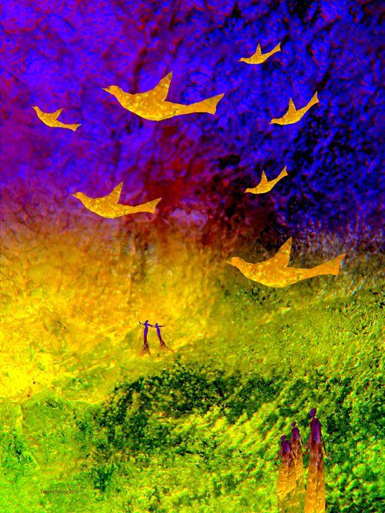 FLYING, DANCING - Tussila Spring Fine art