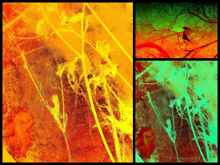 Abstract Ice Collage 3 - Tussila Spring Fine art