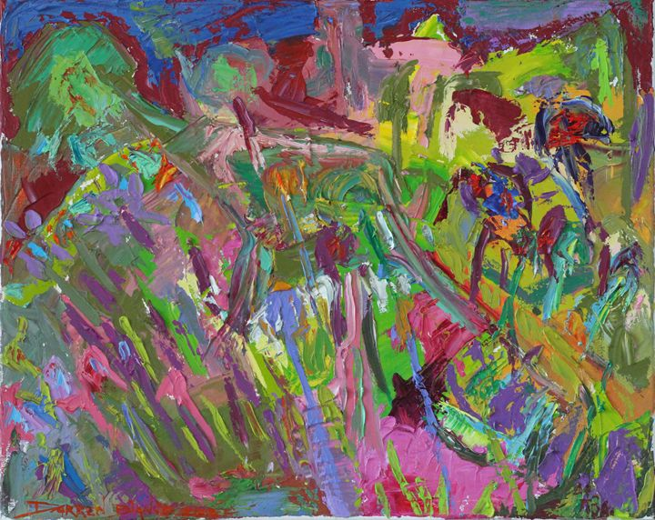 """""""Gardener"""" abstract oil 2013 - Darren Bianco"""