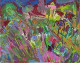 """Abstract Painting """"Gardener"""" 2013"""