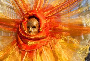 Beautiful mask at carnival in Venice