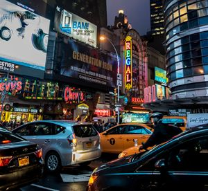 NYC on a Rainy night