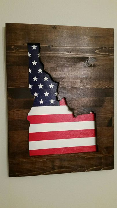 Idaho Wooden Patriotic Wall Art - KayLee's Creations